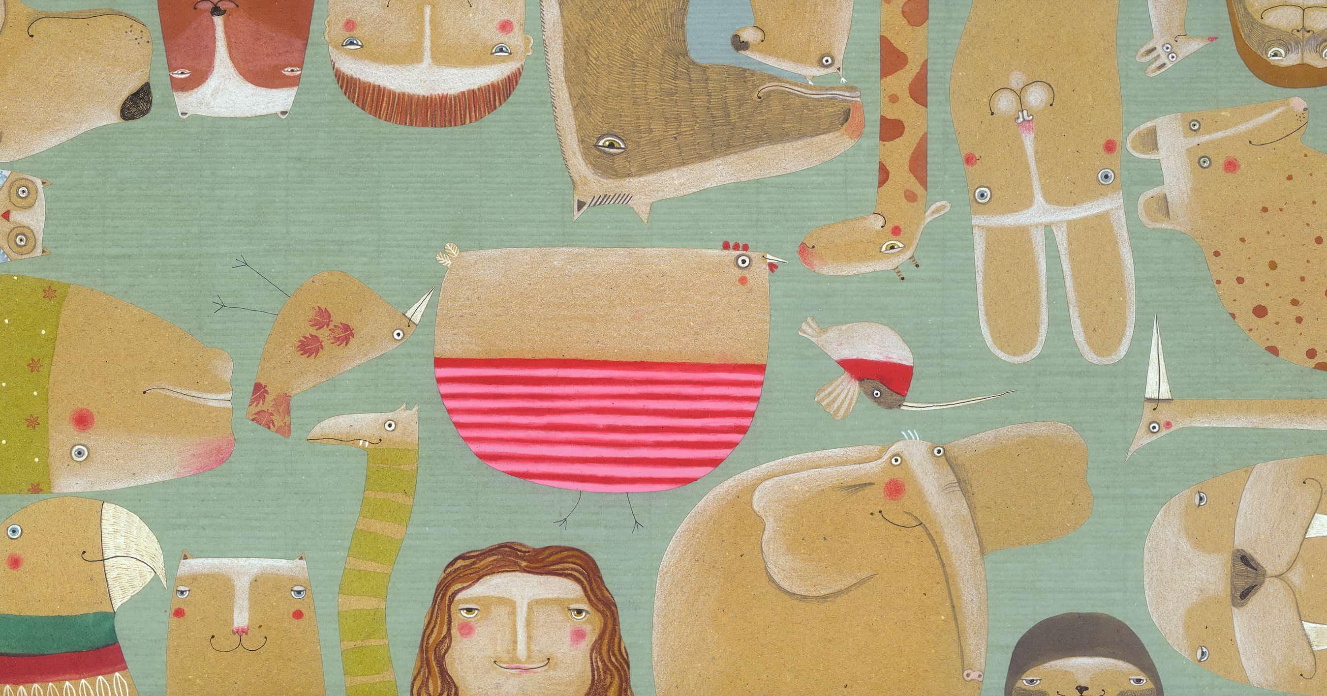 Arianna Papinivince il Premio Andersen comeMiglior illustratore 2018. Illustrazione da È una parola, Kalandraka