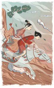 Illustrazione di Elisa Macellari da Polvere Nera di Miriam Dubini, Libri Corsari Solferino