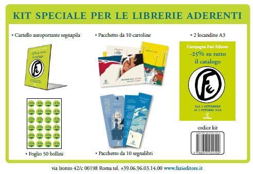 Promozione Fazi Editore: -25% su tutto il catalogo, dal 5 settembre al 5 ottobre - Kit librerie