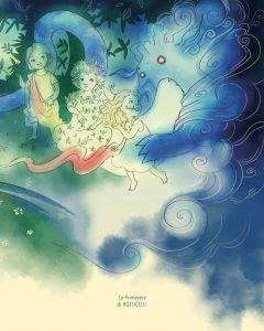 Emma e il Baku blu, illustrazione di Chiara Sacchi