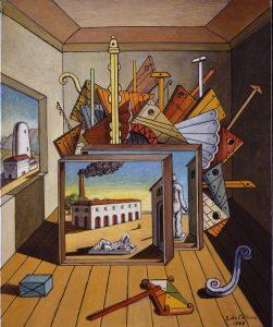 Giorgio de Chirico, Interno metafisico con officina