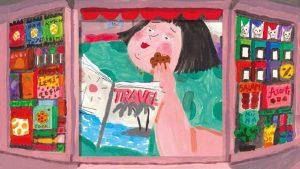 Dettaglio della copertina di Il chiosco