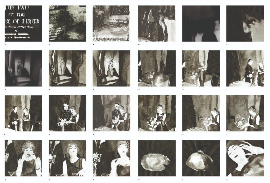 Fall the House of Usher. 1. Fotogrammi dal film del 1929; 2. Disegni del film; 3. Immagini generate dalle gan; 4. Disegni delle immagini generate dalle gan.