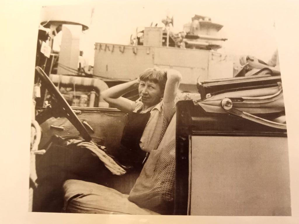 Violette Leduc a Villefranche sue mer nel '49