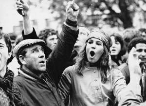 1968: marcia di protesta contro la guerra del Vietnam © Irving Teitelbaum