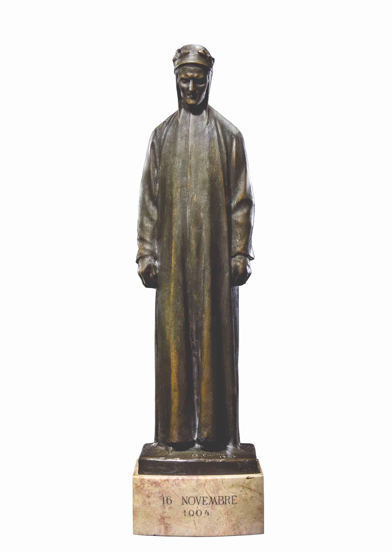 Alfonso Canciani, Dante (1903). Parma, collezione Giampaolo Cagnin. Da Dante. La visione dell'arte.
